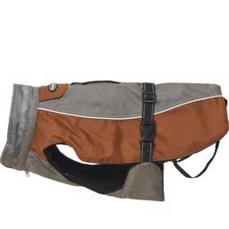 Buster Outdoor Vinterjakke Design Grey Leather Brown