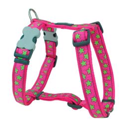 Red Dingo Classic Hundesele Pink Green Star