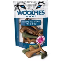 Woolfies by Woolf Dental Fishbone SMALL Hundens Snack Tandbørste