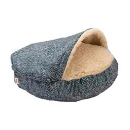 SnooZer Cozy Cave Palmer Indigo Luxury Edition Show Dog