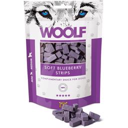 Woolf Soft Blueberry Strips 100g