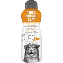 TropiClean Perfect Fur Thick Double Coat Shampoo