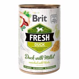 Brit Fresh Holistisk Hundefoder med And og Hirse 400 g