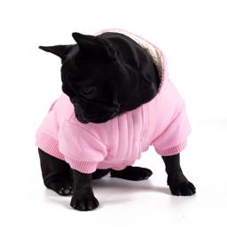 Canada Pooch Cozy Hætte Sweaters Pink
