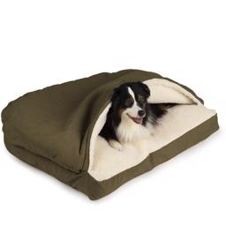SnooZer Cozy Cave Hundehule Rectangle Version Olive