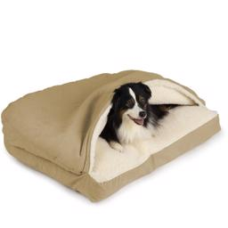 SnooZer Cozy Cave Hundehule Rectangle Version Khaki