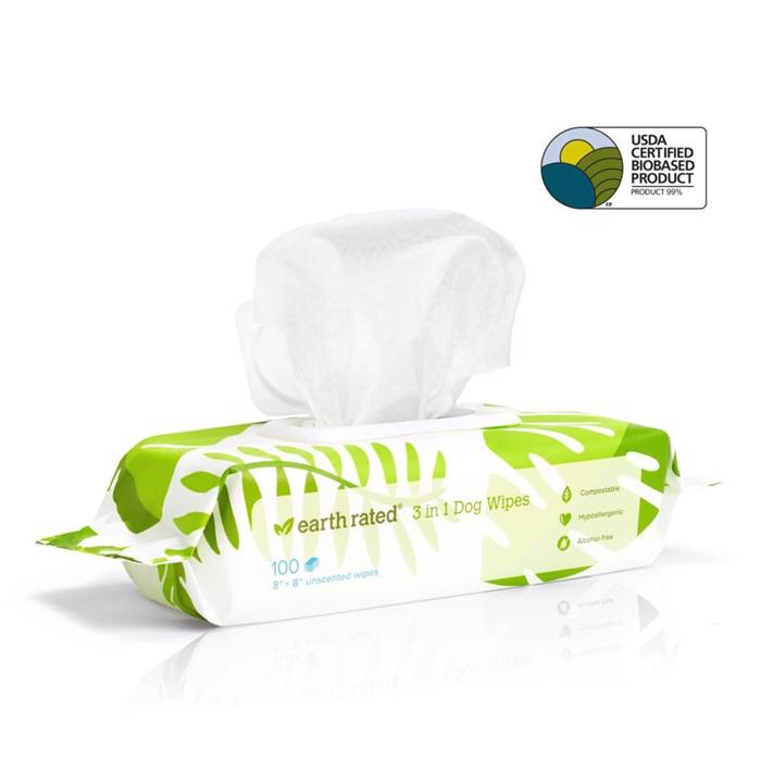 Earth Rated Eco Friendly Wipes Neutral 100 stk Hundens Klud