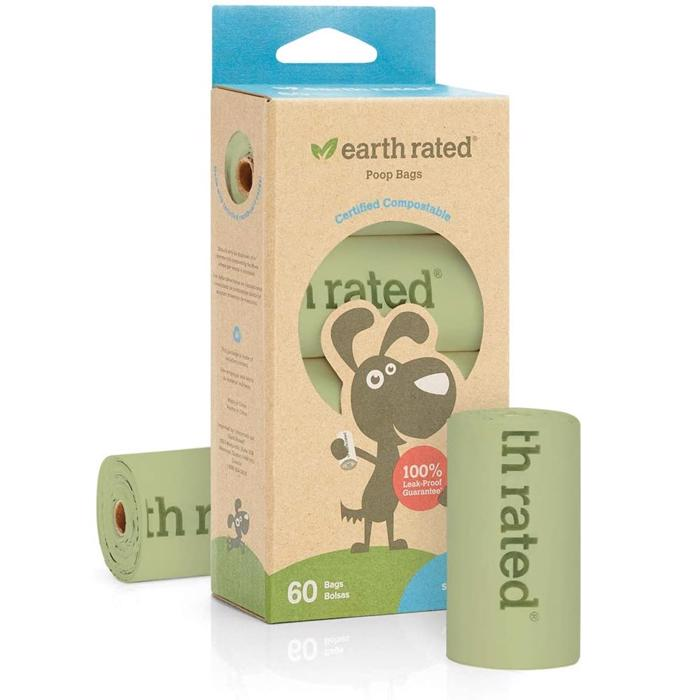 Earth Rated Eco Friendly Hundeposer Komposterbar Neutral 60 stk