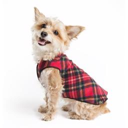 GoldPaw Hunde Fleece Stretch Pullover Red Tartan