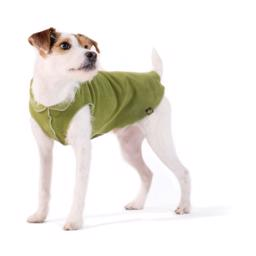 Hunde Fleece GoldPaw Stretch Pullover Moss Green