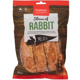 Dogman KaninFilet Slices Of Rabbit HundeSnack 300g