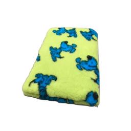 Vet Bed Extra Soft Design Lucky Dog Lime 75 x 100cm