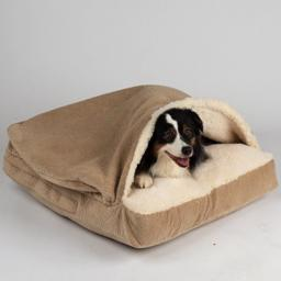 SnooZer Cozy Cave Rectangle ShowDog Collection Piston Sand