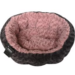 Hundeseng SuperSoft Velvet Plys Oval Rosa Grey