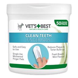 Vets Best Clean Teeth Finger Pads Børst Tænder Let På Vovsen 50stk